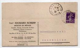 - Carte Postale ARTICLES DE MÉNAGE SCHUPP, CHATENOIS Pour BOUXWILLER (Bas-Rhin) 11.4.1929 - A ETUDIER - - France
