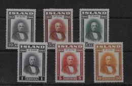 Serie De Islandia Nº Yvert 202/07 * - 1944-... República