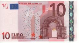 """10 EURO  """"U""""  France   Firma Trichet   L 041 A1  Ch. 22  /  FDS - UNC - EURO"""
