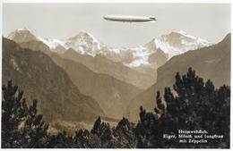 HEIMWEHFLUH → Zeppelin Vor Dem Eiger, Mönch Und Jungfrau Anno 1933 - BE Berne