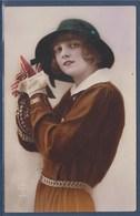 = Carte Postale De Femme Envoyée Pour Souhaiter Bonne Année - New Year