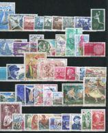 FRANCE POSTE : ANNEE  1970   42  TIMBRES  BIEN  OBLITERES . - 1970-1979