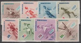 DOMINICAN REPUBLIC - 1957 Olympic Games. Scott 479-483, C100-102. MNH ** - Dominican Republic
