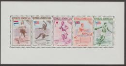 DOMINICAN REPUBLIC - 1957 Perfed Olympic Games Souvenir Sheet. Scott 478a. MNH ** - Dominican Republic