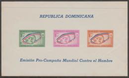 DOMINICAN REPUBLIC - 1963 IMPERF Freedom From Hunger Souvenir Sheet. Scott B43a. MNH ** - Dominican Republic