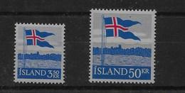 Serie De Islandia Nº Yvert 286/87 ** - 1944-... República