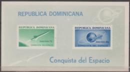 DOMINICAN REPUBLIC - 1964 IMPERF Space Souvenir Sheet. Scott C136a. MNH ** - Dominican Republic