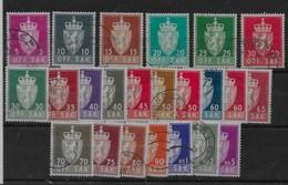 Serie De Noruega Nº Yvert S-67/89 (o) Valor Catálogo 31.0€ - Oficiales