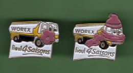 WOREX FIOUL 4 SAISONS *** Lot De 2 Pin's Differents *** 1030 - Carburants