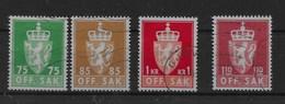 Serie De Noruega Nº Yvert S-90/93 O - Oficiales