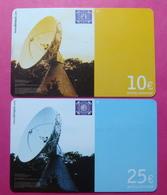 Serie BW-61 &, B-45-0, German Army In Kosovo Lot 2 Prepaid Phone CARD 10 And 25 Euro Used Operator KBIMPULS *Satellite* - Kosovo