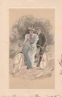 Cartolina - Postcard /  Viaggiata - Sent /  Coppia, In Bicicletta. - Couples