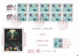 France FDC - Croix Rouge - Grand Format - 1992 - FDC