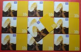 Serie BW-61-0,1, German Army In Kosovo Lot Of 10 Prepaid Phone CARD 10 Euro Used Operator KBIMPULS *Satellite* - Kosovo