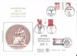 Fance FDC - Bicentenaire De La Révolution Française - Grand Format - 1992 - FDC