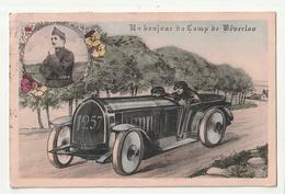 Un Bonjour Du Camp De Beverloo ( Soldaat Militai Militaire En Médaillon Auto 1257 ) - Leopoldsburg (Kamp Van Beverloo)