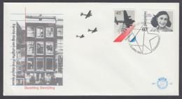 Niederlande Netherlands FDC 1980 - MiNr. 1158-1159 - Besetzung Und Befreiung - Anne Frank - FDC