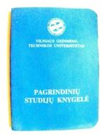 Basic Study Book Of Vilnius Gediminas Technical University Lithuania Student 2004 - Documents Historiques