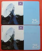 Serie B-38,40..., German Army In Kosovo Lot Of 2 Prepaid Phone CARD 25 Euro Used Operator KBIMPULS *Satellite* - Kosovo