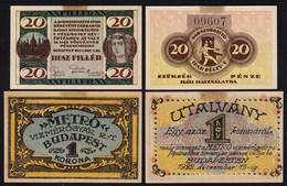 UNGARN - Hungary -  20 Filler 1921 1 Krone 1922 Budapest  (24020 - Ungarn