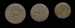 U.R.S.S. 1 Rouble 15 Kopeks 20 Kopeks - Münzen