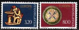 Yugoslavia, 1976, Europa CEPT, Europe, Art, Crafts, 2 Stamps - Europa-CEPT
