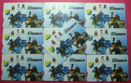 Serie 00103-0... Italian Army In Kosovo Lot 10 Chip CARD 10 Euro Used Operator TELECOM ITALIA *Tank Soldiers Satellite* - Kosovo