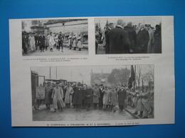 (1919) M. CLEMENCEAU à Strasbourg : Visite Du Fort De Kirchbach -- A L'entrée De Kehl -- La Sortie Du Pont De Kehl - Old Paper