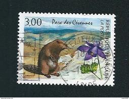 N° 2997 Serie Nature  Parc Des Cévennes Marmotte Et Ancolie  Oblitéré Timbre France 1996 - France
