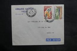 CÔTE DES SOMALIS - Enveloppe Commerciale De Djibouti Pour La France En 1967 , Affranchissement Plaisant - L 35085 - Côte Française Des Somalis (1894-1967)