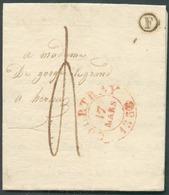 LAC De COURTRAY Le 17 Mars 1838 + Boîte F De HARELBEKE Vers Hornu; Port De 4 Décimes - TTB  - 14404 - 1830-1849 (Unabhängiges Belgien)