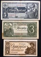 RUSSIA 1+3+5 RUBLI 1938  LOTTO 638 - Russia