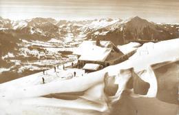 BEATENBERG-NIEDERHORN → Winterkarte Mit Skifahrer Anno 1967 - BE Berne