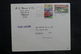 CÔTE DES SOMALIS - Enveloppe Commerciale De Djibouti Pour La France , Affranchissement Plaisant - L 35086 - Côte Française Des Somalis (1894-1967)