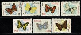 Mongolia 1963  Mi 336/40*, Yv. 294/300*,  Butterflies, Vlinders, Schmetterlinge, Papillons MH (2 Scans) - Mongolie