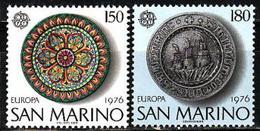 San Marino, 1976, Europa CEPT, Europe, Art, Crafts, 2 Stamps - Europa-CEPT