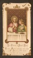 CHROMO IMAGE PIEUSE LE CHRIST Et SAINT JEAN - G. SEYNHAEVE 1ère COMMUNION 1912 CONFIRMATION 1917 COMMUNION 1918 - Images Religieuses