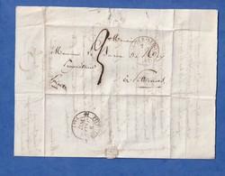 Courrier Ancien De 1837 - BRAY Sur SEINE - Adressé Au Baron De Rey à Pithiviers - Marque Postale - 1801-1848: Précurseurs XIX