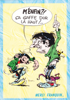 FRANQUIN  André - Décès Hommage à A Franquin - Caricature De Franquin - Gaston Lagaffe- CPM 10,5x15  TBE 1997 Neuve - Illustrateurs & Photographes