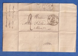 Courrier Ancien De 1839 - ROMANS Sur ISERE ( Drôme ) - Signé SOUCHIER D'ALLEX - Marque Postale - à Emblard à Valence - Marcophilie (Lettres)