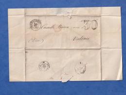 Courrier Ancien De 1860 - TOURNON Sur RHONE - Signature à Identifier Bonnang ? Marque Postale - à Camille Baron Valence - 1849-1876: Periodo Classico