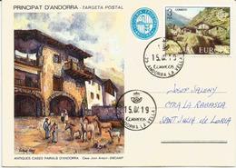 Poble D'Ansalonga (Pueblo De Andorra, Situado En La Parroquia De Ordino.) - Lettres & Documents