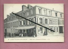 CPA Rétrécit , Carte Souple    -  Saint Valéry Sur Somme  - Hôtel De La Colonne De Bronze - Saint Valery Sur Somme