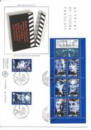 France FDC - Premier Jour - Grand Format - Acteurs Du Cinéma Français - 1998 - FDC