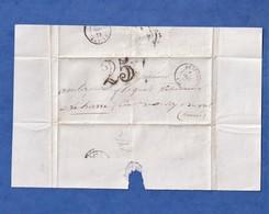 Courrier De 1852 - PATAY ( Loiret ) - Monsieur GENTY Marchand De Chevaux - Marque Postale - La Harre / Saint Cyr En Val - Poststempel (Briefe)