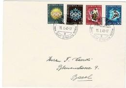1948, Mi. Nr. 492 - 95, FDC (SBK Fr. 200.-)   #a477 - Briefe U. Dokumente