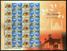 India 2014 Taj Mahal Architecture My Stamp Sheetlet MNH # 29 - Moskeeën En Synagogen