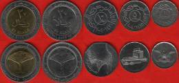 Yemen Set Of 5 Coins: 1 - 20 Rials 1993-2009 UNC - Yemen