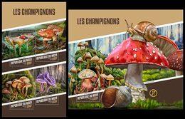 NIGER 2018 - Mushrooms - YT CV=39 €, 4509-12 + BF838 - Champignons