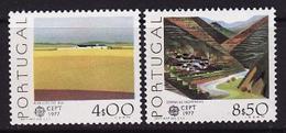 Portugal, 1977, Europa CEPT, Landscapes, 2 Stamps - 1977